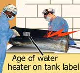 age of water heater
