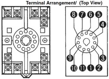 11 pin timer base 270 how to wire pin timers 11 pin relay socket wiring diagram at bakdesigns.co