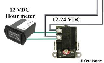 12 volt dc hour meter