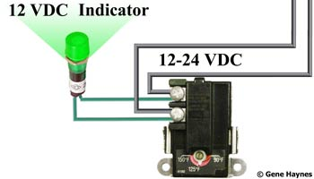 12 volt dc indicator light