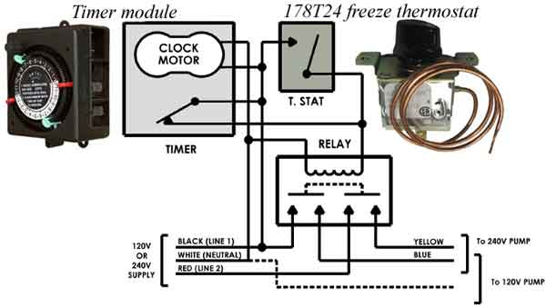 how to troubleshoot intermatic timer and replace intermatic clock, Wiring diagram