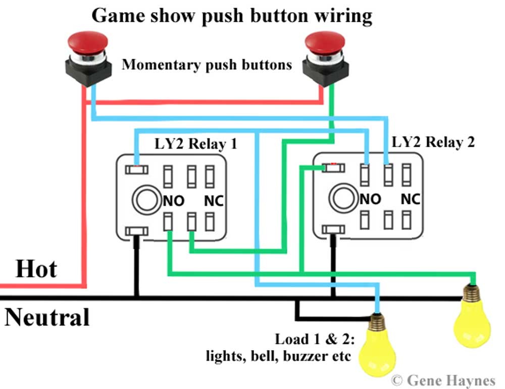 Game show push button wiring | Push Button Wire Diagram |  | Waterheatertimer.org