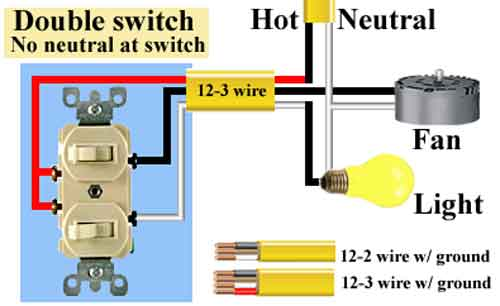 2 single pole switch 500 wiring a double switch diagram 2 and 3 wire double switch wiring 3-Way Switch Wiring Diagram Variations at gsmx.co
