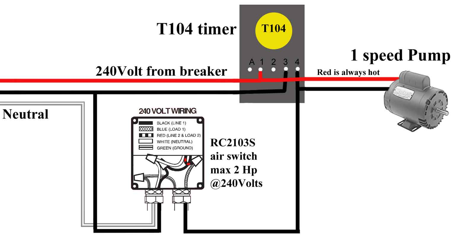 Wire air switch to T104