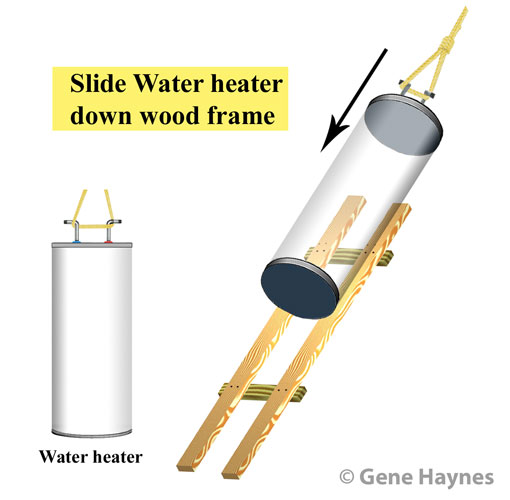 Remove water heater from attic