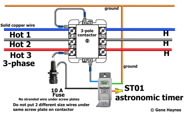 how to wire motor control contactor rh waterheatertimer org