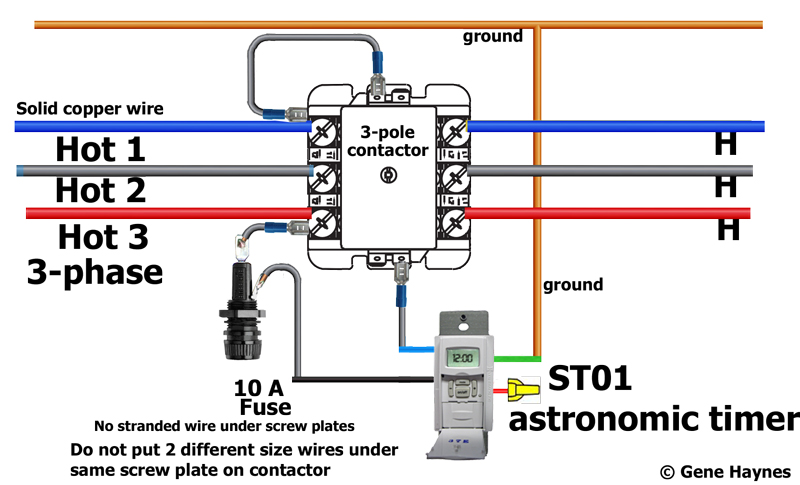 How to install 3-phase timer:  Phase Wire Fused Disconnect Switch Wiring Diagrams on