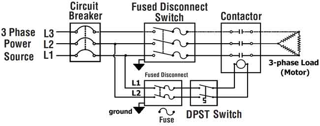 [DIAGRAM_38IU]  How to wire 3-phase | 3 Phase 4 Wire Disconnect Schematic |  | Waterheatertimer.org