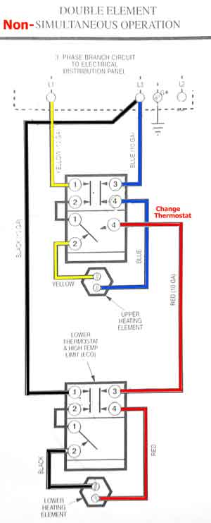 3 phase water heater 3 phase power wiring diagram 3 phase simultaneous on balanced thermostats