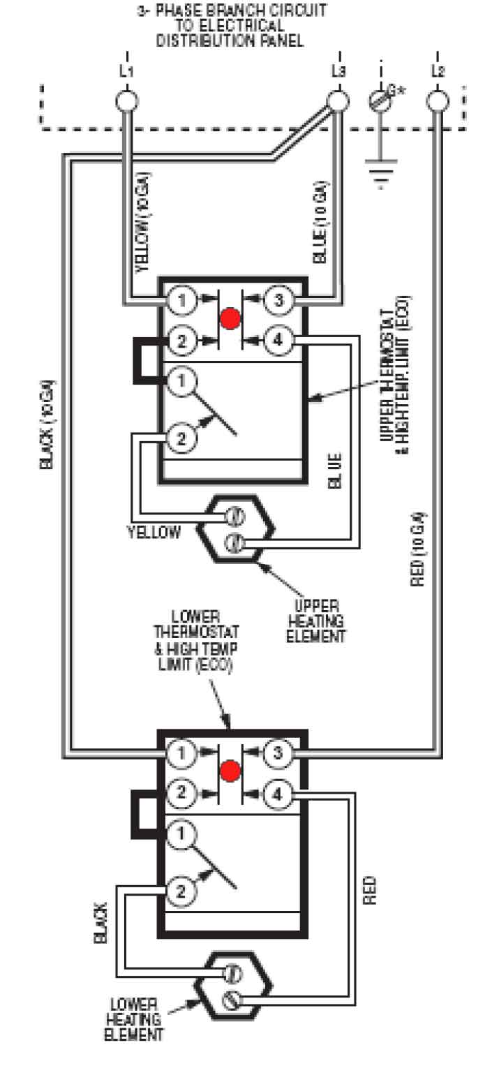 Wire water heater for 3-phase. Larger image · Another image slightly  different wiring: larger ...
