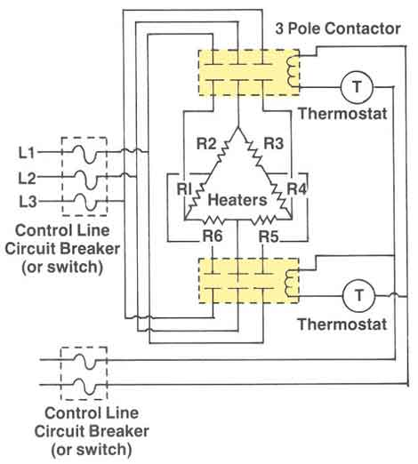 3-phase thermostat wiring