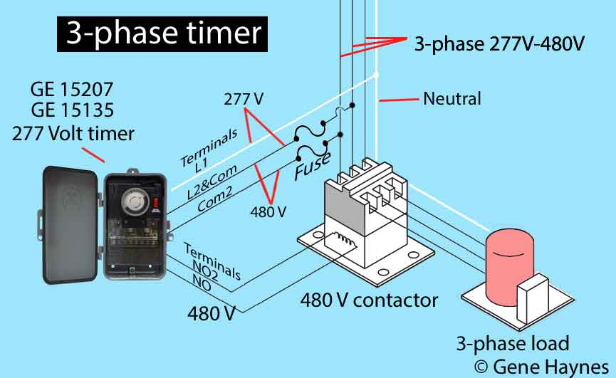 How to wire GE 15136 timer