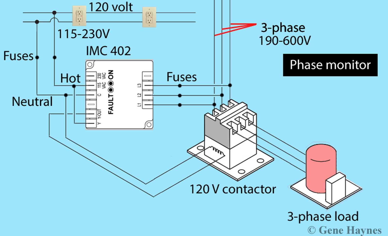[SCHEMATICS_48YU]  How to wire phase monitor | 3 Phase Wire Diagrams Seiman |  | Waterheatertimer.org