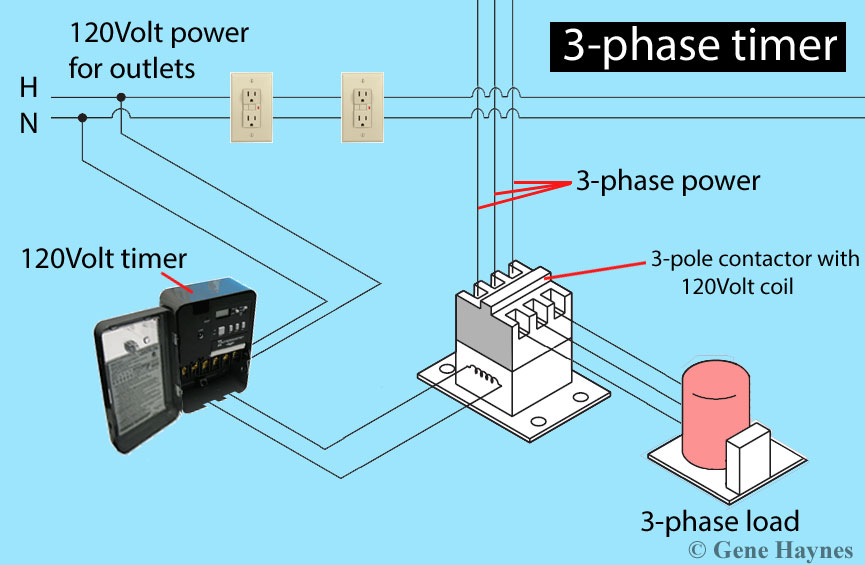 how to install 3 phase timer 3 phase timer