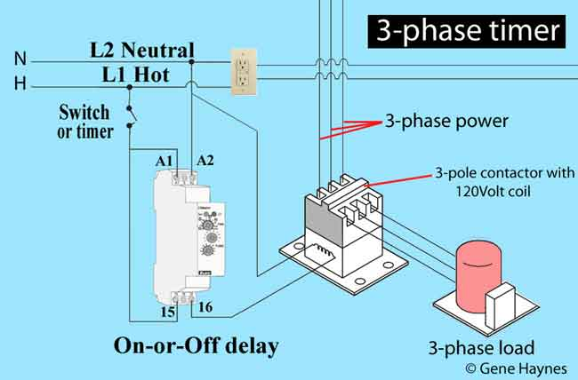 3-phase off delay timer