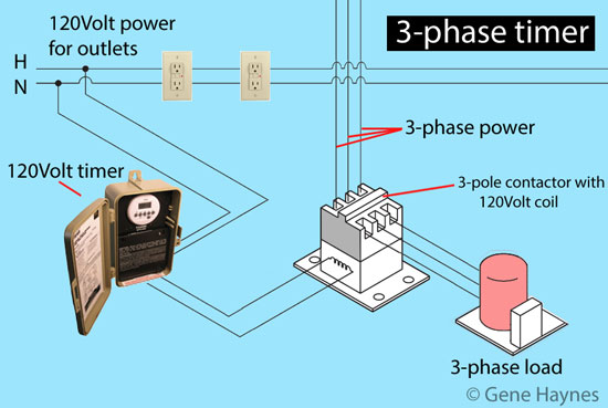 how to set timers 3 phase wiring 3 phase timers