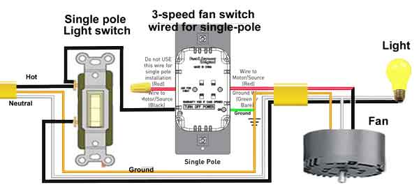 3 speed fan switch