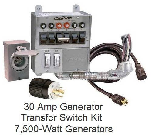 30 Amp Generator Transfer Switch Kit