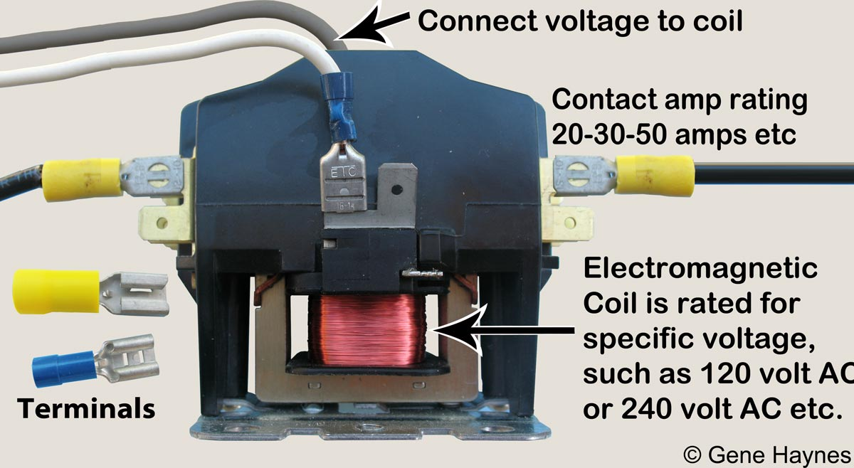 Single Pole Ac Contactor Wiring Diagram | New Wiring ... on