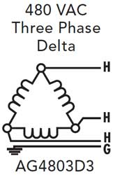 480 3 phase delta