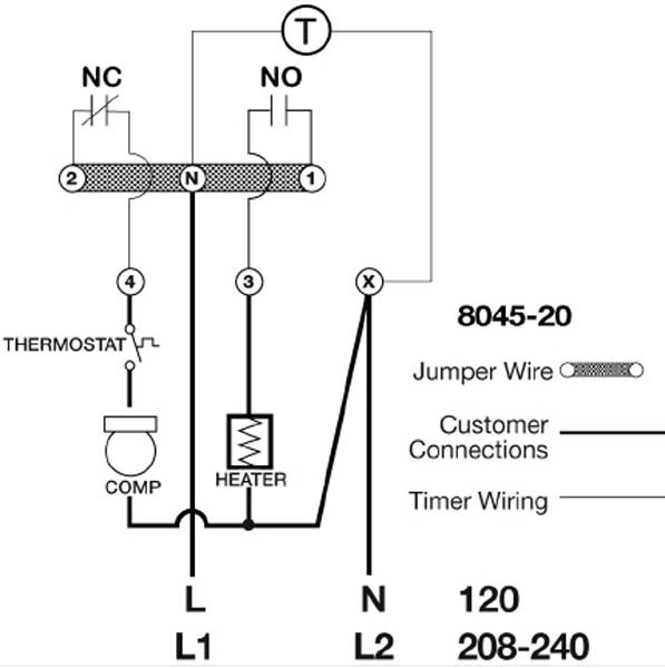 paragon timers and manuals Home AC Thermostat Wiring Diagram larger image, paragon 8145 wiring larger image other defrost timers