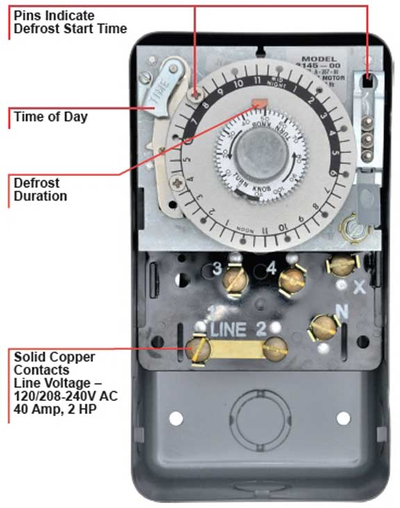 paragon timers and manuals Home AC Thermostat Wiring Diagram including paragon 8145 manual � defrost timer training � larger image