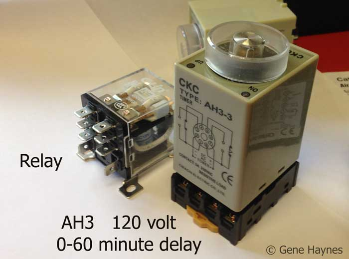 AH3 delay timer and relay