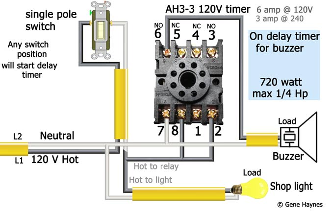 AH3 3 120 volt delay timer wiring 1 buzzer how to wire off delay timer time delay transfer switch wiring diagram at gsmx.co