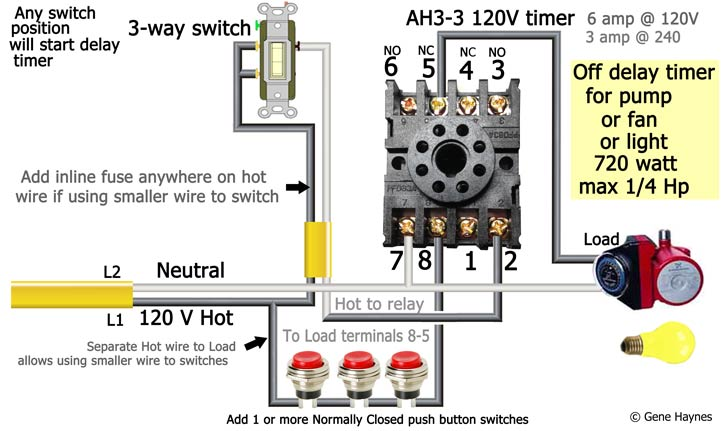 AH3 3 120 volt delay timer wiring 1 push button how to wire ah3 3 timer how to wire a time delay relay diagrams at eliteediting.co