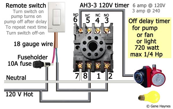 How to wire off delay timer Dayton Time Relay V Wiring on