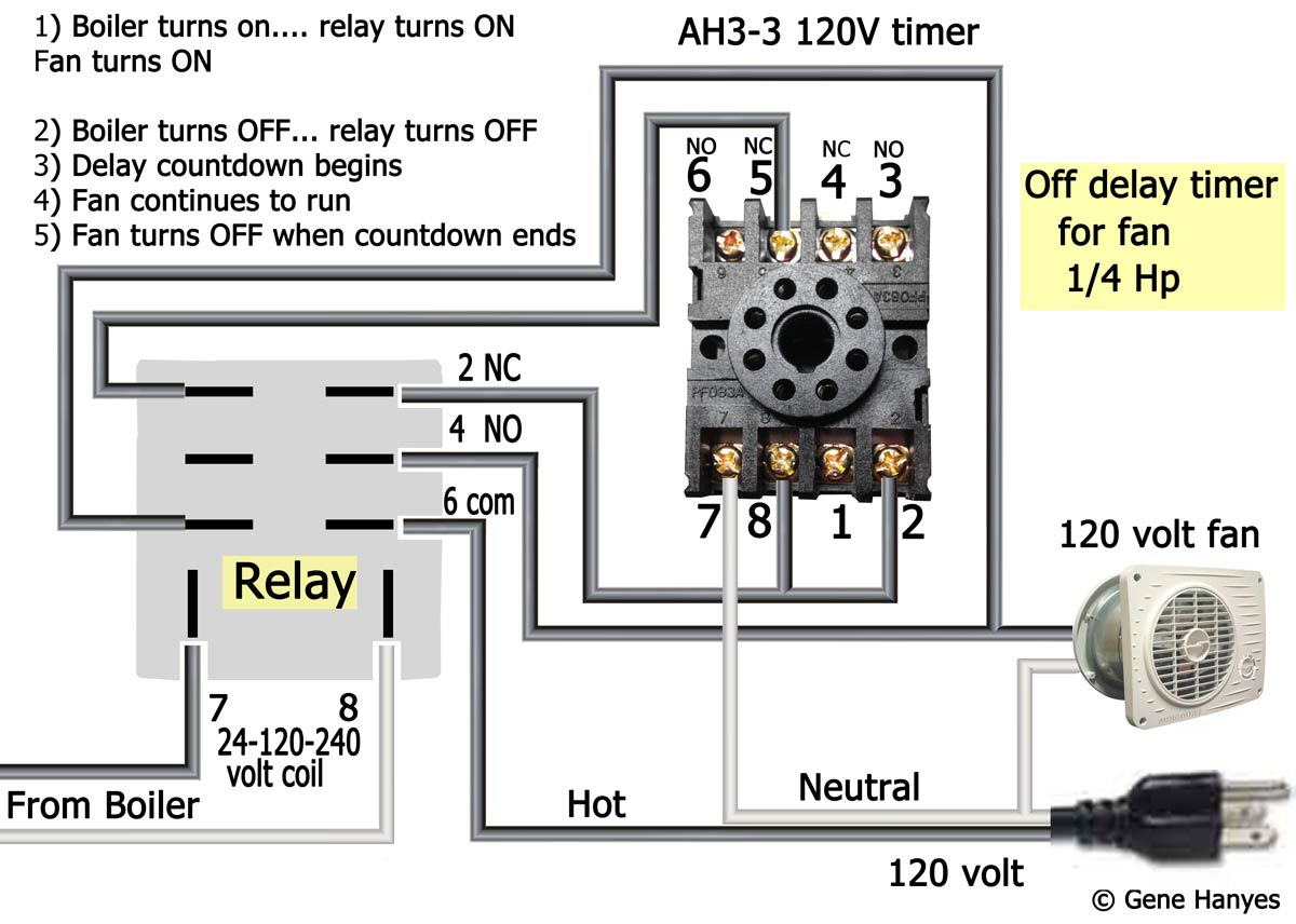 Add Vent Fan To Boiler On Delay Timer Wiring Diagram Ah3 And Relay Larger Image