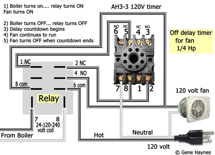 AH3 3 120 volt delay timer wiring Fan 7 how to wire off delay timer