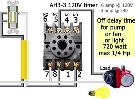 How to wire Dayton Off Delay Timer Dayton Off Delay Relay Wiring on