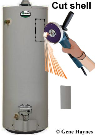 electric thermostat on gas water heater