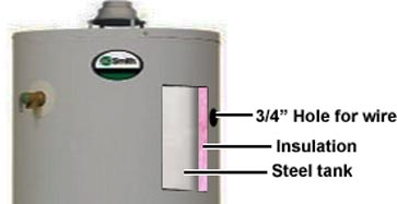 Install electric thermostat on gas water heater