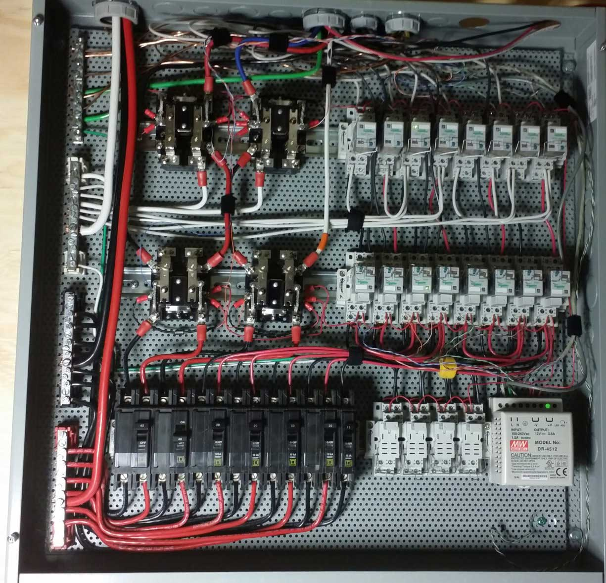 Can Ac Circuit Breaker Be Used For Dc Dual Square D Fuse Box Larger Image Example Subpanel Shows A With Breakers Mounted On Din Rails Ordinary Wire Gauge Will Work Either Or