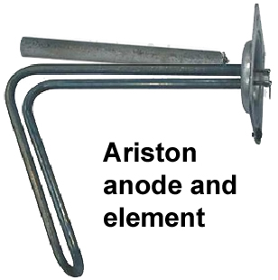 Ariston element and anode rod