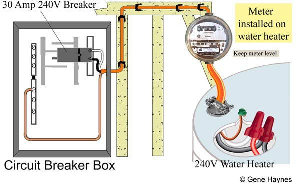 How to install electric meter on 240 Volt water heater Uwz Meter Wiring Diagram on