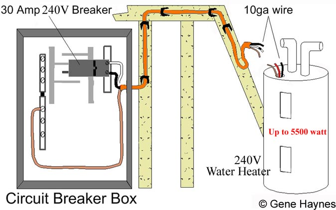 basic 240 120 volt water heater circuits rh waterheatertimer org hot water tank wiring diagram hot water tank wiring schematic