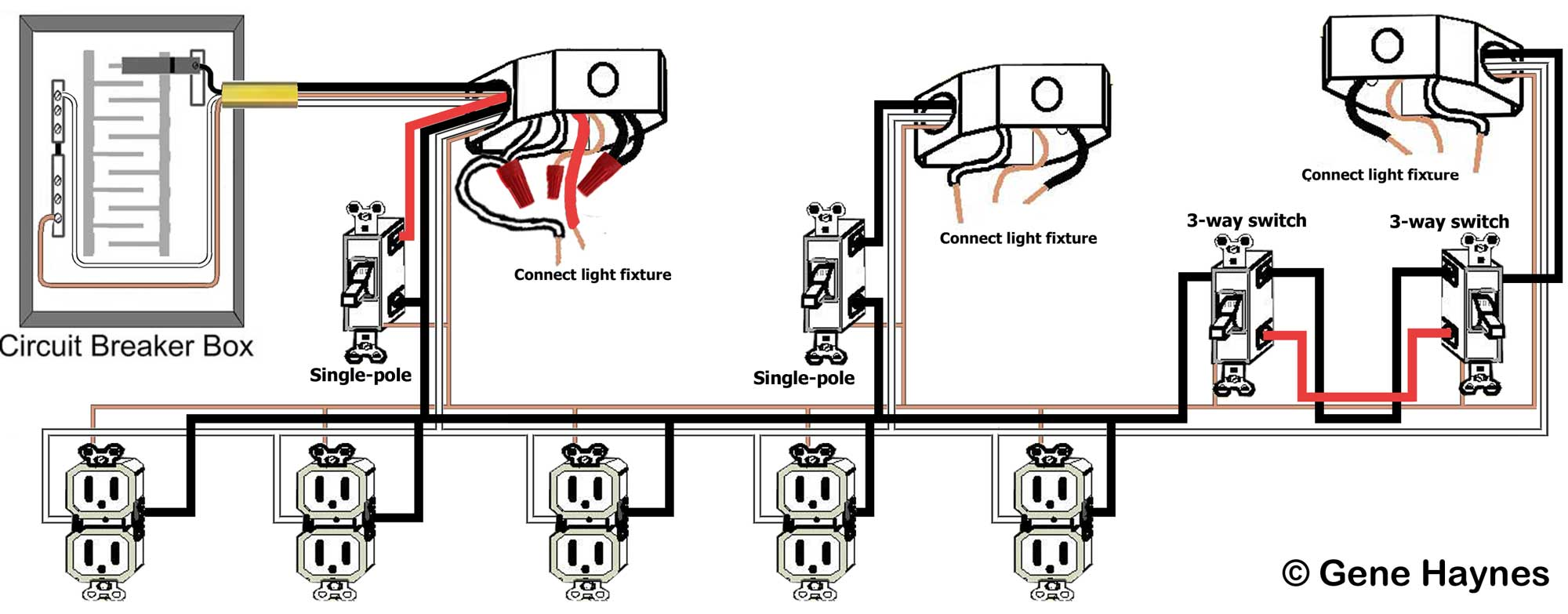 Basic House Wiring Pole Light Switch Diagram How To Wire 2 Separate Single Larger Image Typical 120 Volt Circuit