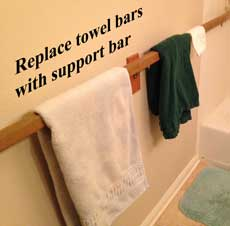 Bathroom support bar