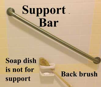 Bathroom support bars