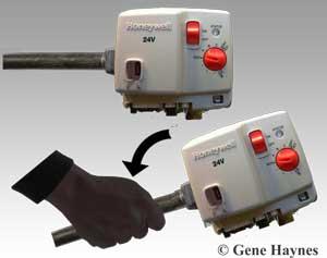 Remove gas valve