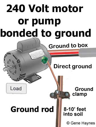 Bond motor to ground