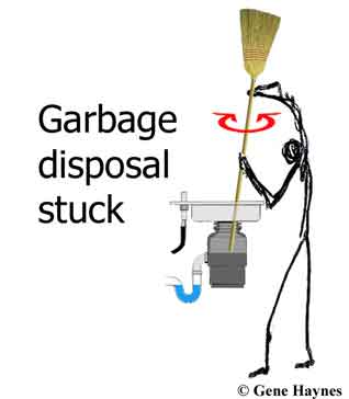 gabage disposal stuck