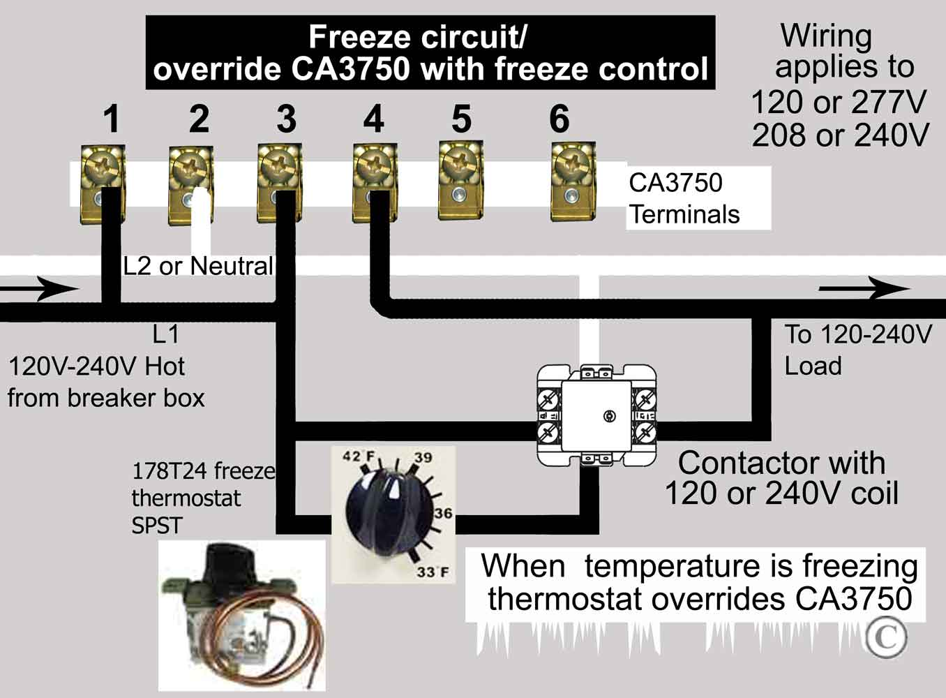 How To Wire Ca3750 Z Wave Contactor Zwave Basics Circuit Diagram Wiring A For 120volt Purchase With 120v Coil See