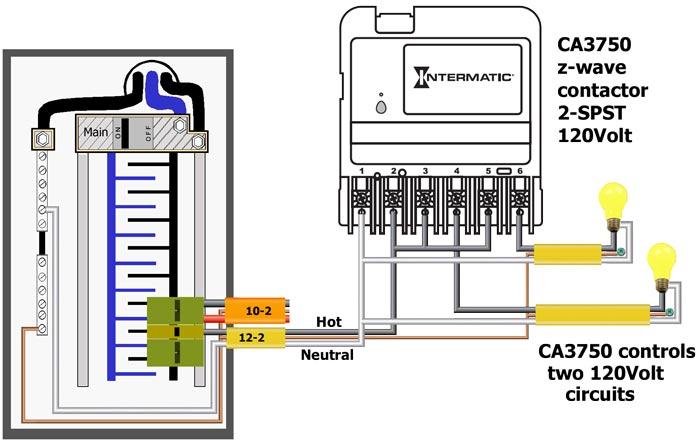 CA3750 controls two 120Volt circuits