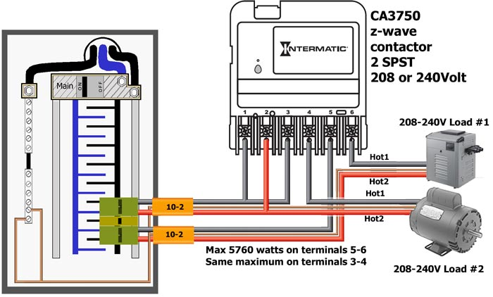 how to wire intermatic ca3750 rh waterheatertimer org Carrier Heat Pump Wiring electrical wiring pool heat pump