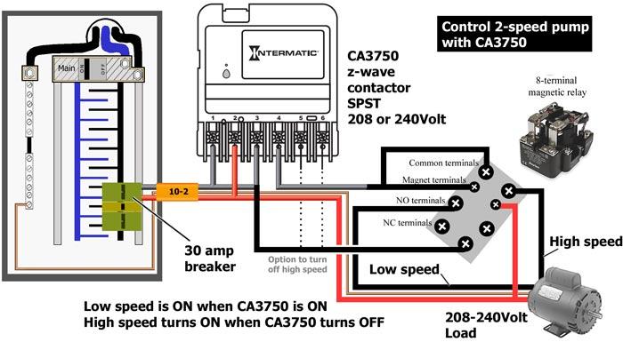 CA3750 controls 2-speed pump