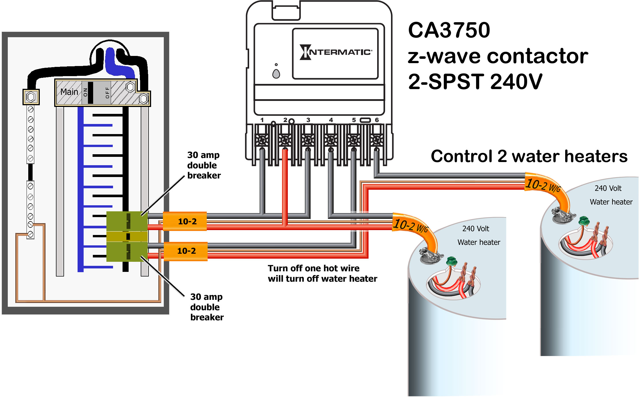 Ca 3750 Wiring Diagram Pool Starting Know About Rj31x Block How To Wire Intermatic Ca3750 Rh Waterheatertimer Org